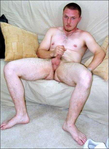 Guy masturbating his dick on sofa8